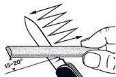 brúsenie nožíkov Victorinox pod správnym uhlom